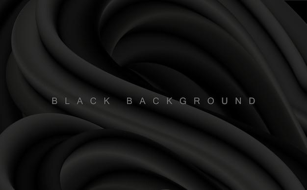 Vector zwarte abstracte artistieke achtergrond voor ontwerp