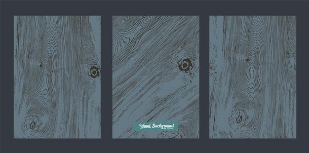 Vector zwarte houten achtergrond en textuur