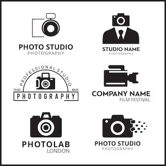Vector zwarte pictogrammen voor fotografen 6