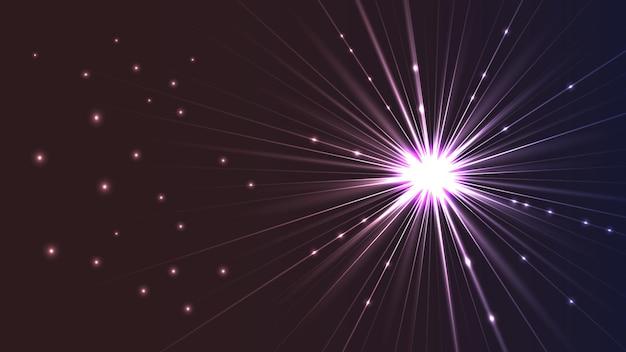 Vectorachtergrond in de vorm van een lichtgevende heldere ster met stralen. eps10