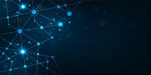 Vectorachtergrond in het concept gegevensnetwerk.
