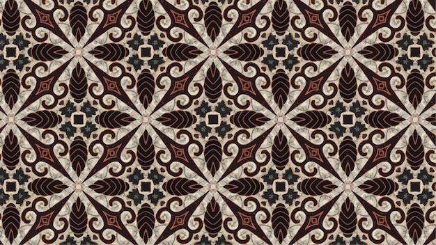Vectorachtergrond van batikpatroon, indonesische batik