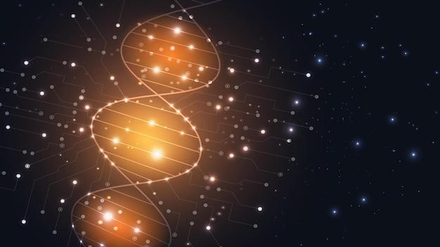 Vectorachtergrond van de moleculaire structuur van het dna-molecuul. eps-10.