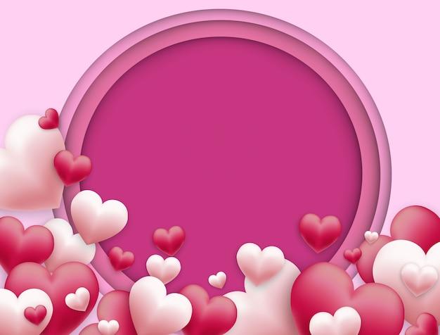 Vectorachtergrond van valentijnsdag en vrije ruimte voor tekst