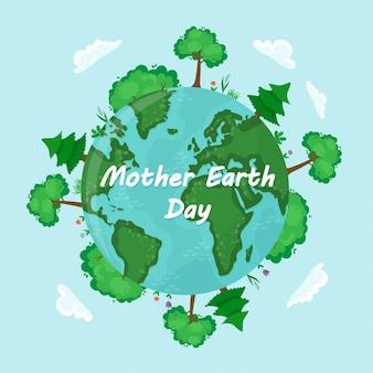 Vectorachtergrond voor internationale aardedag