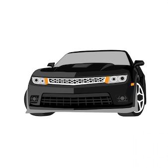 Vectorautoillustratie op witte achtergrond gemakkelijke aanpassing volledig editable formaat