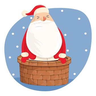 Vectorbeeldverhaalillustratie de leuke kerstman.