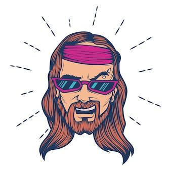 Vectorbeeldverhaalillustratie van jesus.