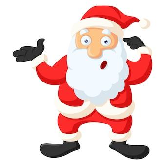 Vectorbeeldverhaalillustratie van leuke kerstman.