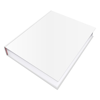 Vectorboekmodel met lege omslag, sjabloonillustratie