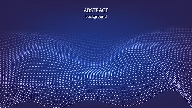 Vectordeeltjes in de vorm van abstracte golven. eps-10.