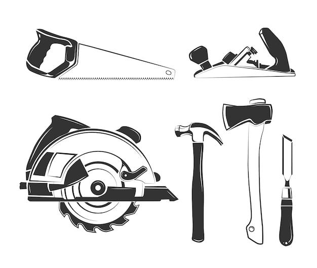 Vectorelementen voor timmerwerketiketten