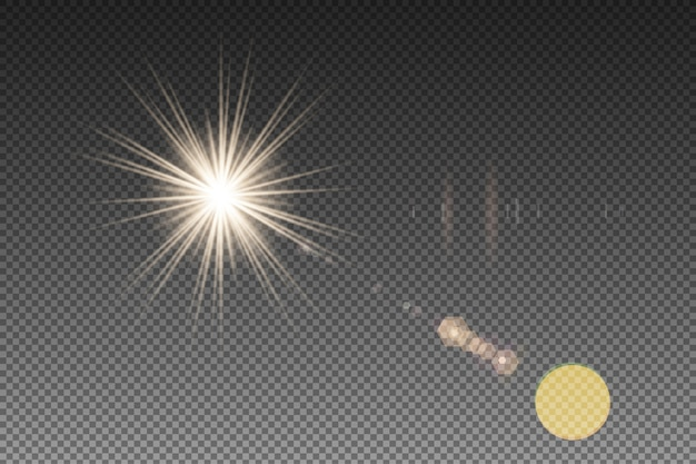 Vectoren flare doorschijnend
