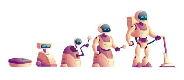 Vectorevolutie van robots, stofzuigerconcept