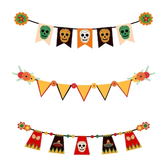 Vectorgors van dia de los muertos mexicaans festival dag van de doden