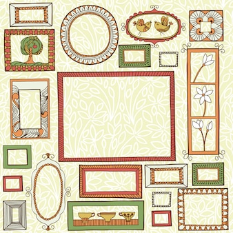 Vectorillustratie met een reeks frames