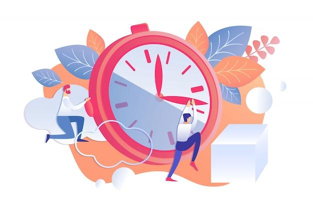 Vectorillustratie rationeel personeel tijd management