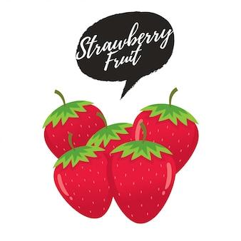 Vectorillustratie van aardbeien