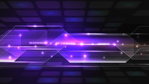 Vectorillustratie van abstracte elektrische bord, circuit. abstracte wetenschap, futuristisch, web, netwerkconcept. eps 10