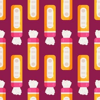 Vectorillustratie van baby poeder patroon. naadloos babypoederpatroon. tegen irritatie. naadloze patroon.