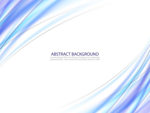 Vectorillustratie van blauwe abstracte achtergrond gemaakt van lichte spatten en gebogen lijnen