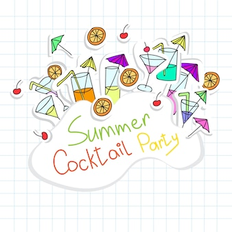 Vectorillustratie van cocktail party-kaart voor design