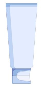 Vectorillustratie van crème buis in een vlakke stijl geïsoleerd op een witte achtergrond