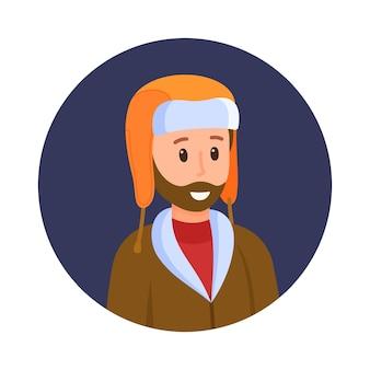 Vectorillustratie van de avatar van een man. een vader die jonge kinderen controleert. foto voor sociale netwerken of gewoon als aandenken.