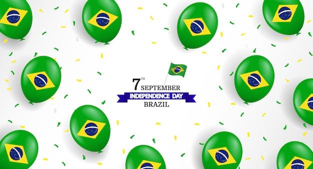 Vectorillustratie van de dag van de onafhankelijkheid van brazilië.