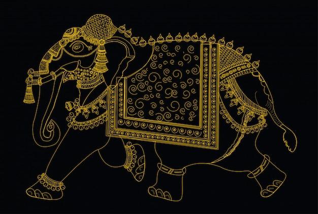 Vectorillustratie van de olifant