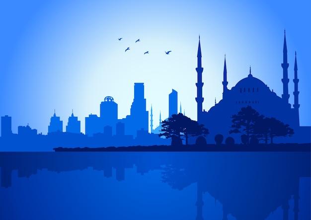 Vectorillustratie van de skyline van istanbul