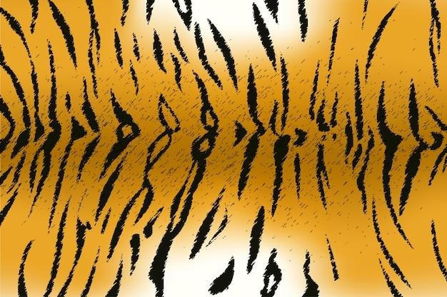 Vectorillustratie van de tijgerpatroon van de bengaalse tijger