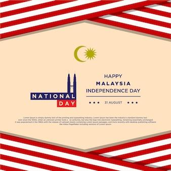 Vectorillustratie van de viering van de onafhankelijkheidsdag van maleisië