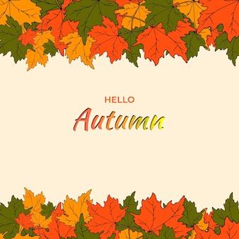 Vectorillustratie van een herfstbanner met de inscriptie