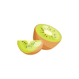 Vectorillustratie van een kiwi bron van vitamine c en b