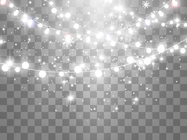 Vectorillustratie van een lichte slinger op een transparante achtergrond