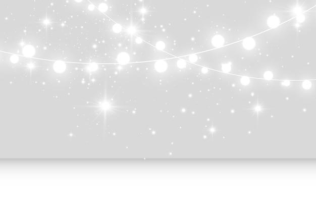 Vectorillustratie van een lichte slinger op een transparante achtergrond Premium Vector