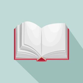 Vectorillustratie van een open boek. bovenaanzicht. plaats voor tekst.
