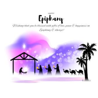 Vectorillustratie van epiphany-conceptgroet