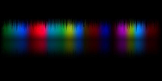 Vectorillustratie van geluidsgolven abstracte gloeiende partij achtergrond