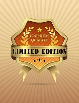 Vectorillustratie van gouden limited edition