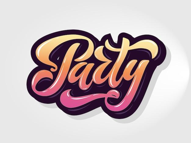 Vectorillustratie van gouden partij poster sjabloon met 3d belettering typografie night disco