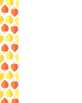 Vectorillustratie van herfstbladeren decoratie herfst wenskaarten perfect voor het afdrukken van flyers