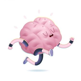 Vectorillustratie van het trainen van hersenactiviteit