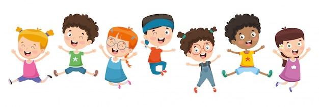 Vectorillustratie van kinderen spelen