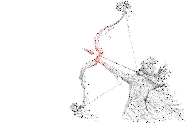 Vectorillustratie van lord rama met pijl die ravana doodt in dussehra navratri-festival
