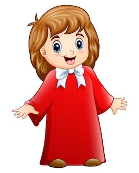 Vectorillustratie van meisjeskoor cartoon