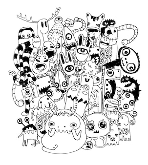 Vectorillustratie van monsters en alien