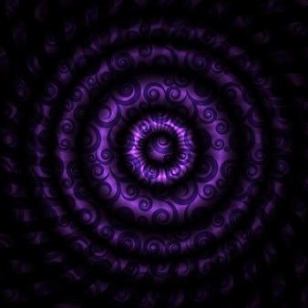 Vectorillustratie van mooie abstracte hypnotische achtergrond. eps10