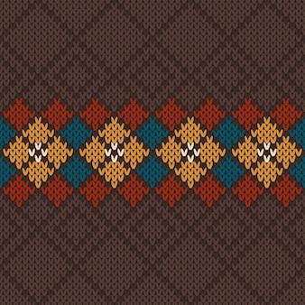 Vectorillustratie van naadloos gebreid wolpatroon